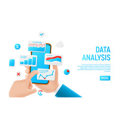data analysis banner concept vector image