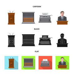 Design of law and lawyer symbol collection vector
