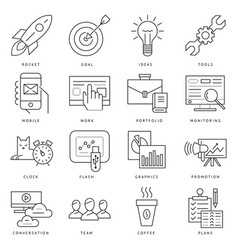 Digital black startup business vector
