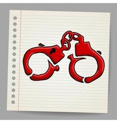 Doodle handcuffs vector