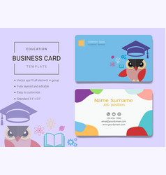 Education business card or name card template vector
