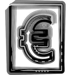 Euro Striped Symbol vector