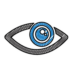 Eye view symbol icon vector