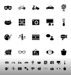 Favorite and like icons on white background vector image