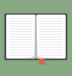 flat notebook vector image