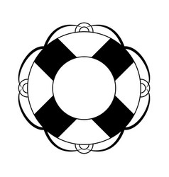 Float navigation lifesaver in black and white vector