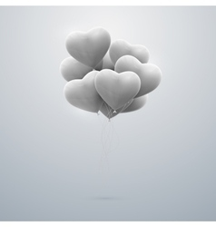 flying bunch of balloon hearts vector image