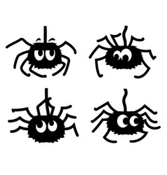 fun spiders black graphic printable vector image