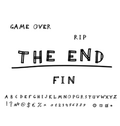 Game over Hand drawn eps8 vector image