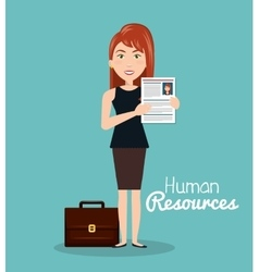 Girl portfolio cv human resources vector
