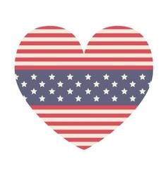 Heart of usa flag design vector