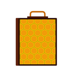 honeycomb icon flat style vector image
