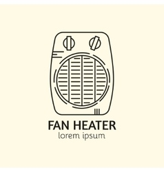 House Heating Logo Template vector image