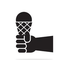 ice cream cone handle icon concept vector image