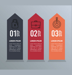 Infographic statistics with business elements vector