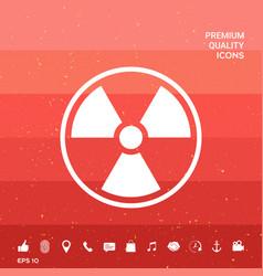Ionizing radiation icon vector