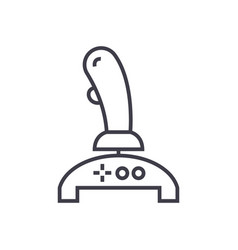 joystick line icon sign on vector image