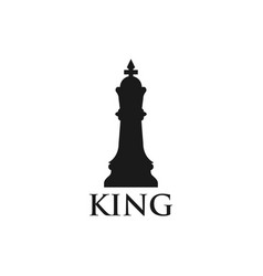 King chess piece graphic design template vector