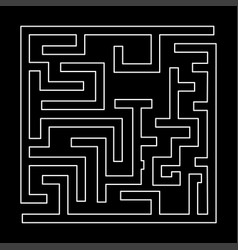 Labyrinth maze conundrum white color path icon vector