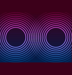 laser neon circle rings abstract tech background vector image
