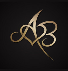 Letter ab love vector