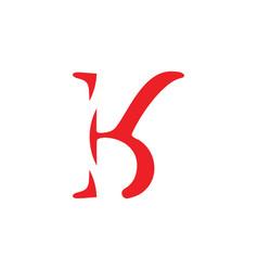 Letter bk simple curves logo vector