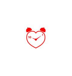 Love time logo design vector