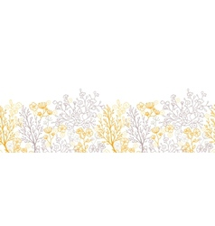 Magical floral horizontal seamless pattern vector