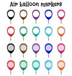 marker mockup air balloon marks vector image
