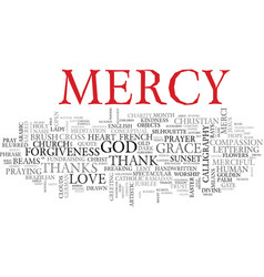 mercy word cloud concept vector image