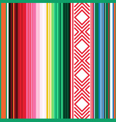 Mexican seamless pattern striped texture with vector