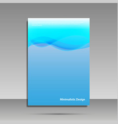 minimalist design blue brochure cover banner vector image
