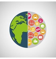 mobile marketing design vector image