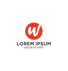 Monogram initial w logo design vector