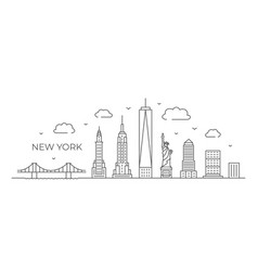 new york line drawing new york in vector image
