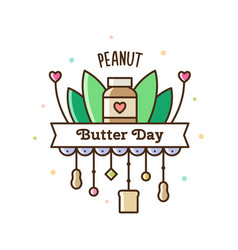 peanut butter day vector image