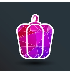 pepper logo bell sweet abstract line vector image