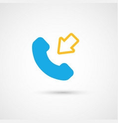 Phone colorful icon - incoming vector
