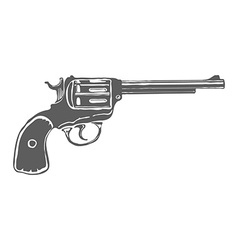 Pistol design vector