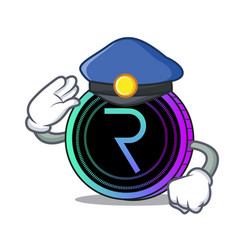 Police request network coin character cartoon vector