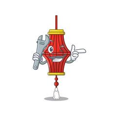 Professional mechanic chinese paper lanterns vector
