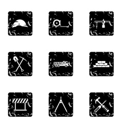 Repair icons set grunge style vector image