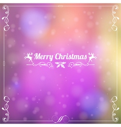 Retro Christmas Frame vector image