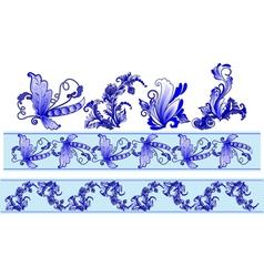 Russian decorative ornaments vector