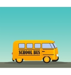 School Bus in Road Back to School Concept vector