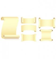 set of rolls vector image
