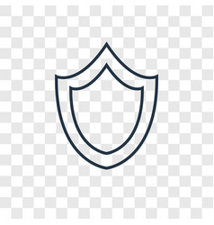 Shield concept linear icon isolated on vector