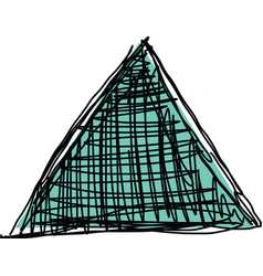 sketch of triangle vector image