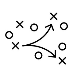 soccer field strategy game tactic football vector image
