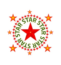 star red vector image